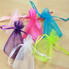 50 Organza Gift Bags Jewellery Christmas Packing Pouches Wedding Party Favour f