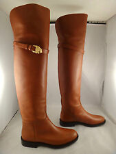 NIB Valentino Lion Animalia Cognac Leather Thigh High Over Knee Boot 37 $2145