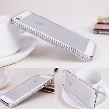 Luxury Crystal Diamond Hard Metal Case Cover Bumper Protector For Apple iPhone