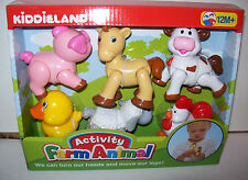 Kiddieland Activity Farm Animals= Pig,Cow,Horse, Sheep, Roosster,Duck, Age-12M+