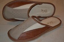 Mens Genuine Sheep Leather Slippers Shoes Sandal Handmade From Poland Kapcie New
