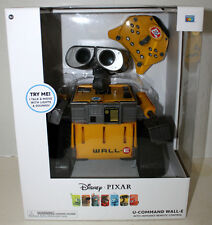 WALL-E  DISNEY PIXAR U-COMMAND W/INFRARED REMOTE CONTROL ROBOT R/C MINT IN BOX