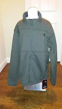 The North Face Mens Malache Fleece Full Zip Jacket Fig Green NWT Med and XL