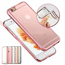 Ultra Thin Clear Plating Soft Silicone TPU Case Cover Skin for iPhone 6s&6s Plus