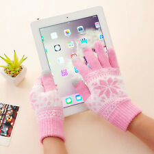 New Fashion Snowflake Knitted Screen Touch Gloves Unisex Phone Glove Lovers Gift