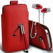 Pull Tab Pouch Phone Case?In Ear Headset?Stylus Pen for Samsung Galaxy S5 Mini