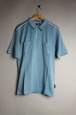 Billabong D1KT303 Fins Mens Baby Blue Polo T - Shirt With White Lines New