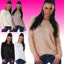 Ladies Knitted Sweater Sequin Sweater Sweater silky sheen 5 Colors New