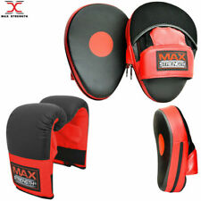Boxing Gloves Focus Pads Set Hook and Jab Sparring Training Mitts Punch Bag set