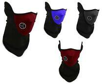 Blk Blue RedBike Motorcycle Snowboard Ski Cycling helmet Face Mask Neck Warmer
