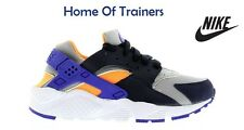 NIKE AIR HUARACHES RUN(GS) WMN/BYS/GRLST RAINER Grey/Black/Purple (6542275-006)