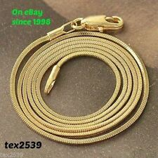 """Snake Chain Necklace 18K Gold Overlay NEW 1.2mm You chose 16"""" 18"""" 20"""" 22"""" & 24"""""""