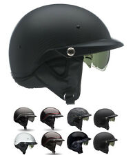 *Ships Within 24 Hrs* Bell Pit Boss (Black, Matte,Carbon) Motorcycle Half Helmet