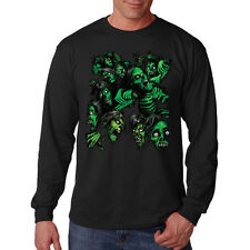 Big Green Zombie Pile Day Of The Dead Long Sleeve T-Shirt Tee
