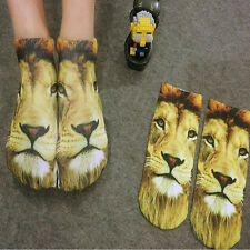 1 Pair Fashion Men Women Casual Low Cut Ankle Socks Cotton 3D Printed Animals e