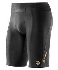 Skins A400 Mens Compression Half Tights (Black / Black)