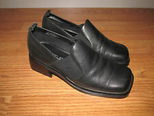 AEROSOLES Loafers/Slip-Ons~Womens Size 7W~Black Leather~NWOB