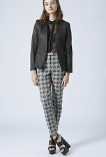 TOPSHOP Shadow Houndstooth Cigarette Trousers Size 6 to 14 ***NEW***