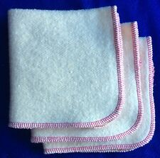 NEW Hemp Organic Cotton Fleece Wipes 12 x 12  cloth baby wipes Fuchsia Trim