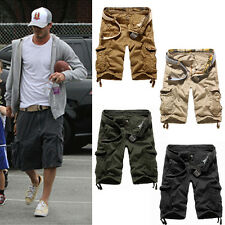 Mens Three Quarter Cargo Shorts