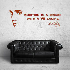 ELVIS PRESLEY QUOTE wall art vinyl sticker room decal AMBITION IS A DREAM
