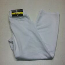 Under Armour Boys Leadoff ll Baseball Pants White Relaxed Fit Sport Youth S M XL