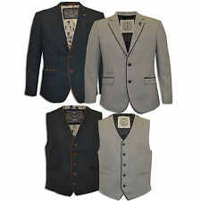 Mens Designer Blazer & Waistcoat Formal Coat Smart Dinner Suit Jacket Wool Mix