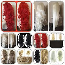 Ponytail Hair Piece Extension 20.3-66cm Long Curly Wavy On Claw Clip/Drawstring