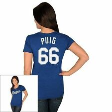 Los Angeles Dodgers Yasiel Puig MLB Majestic Top New