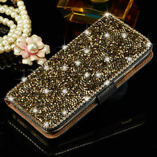 Luxury Bling Metal Crystal Diamond Wallet Flip Case Cover For iPhone Samsung New