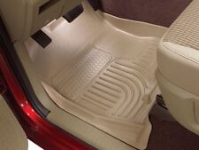 WeatherBeater Tan 2 Row Set Floor Liners Husky Liners All Weather Mats