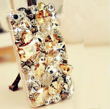 For Mobile Phone Luxury Champagne Clear Crystals Rhinestones Bling Cover Case
