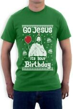 Ugly Christmas Sweater Go Jesus it's Your Birthday T-Shirt Gift Idea