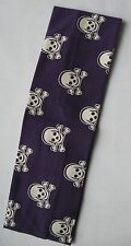 "1 Pirate Headband Skull Bones cotton 2.5"" stretch PEACE sign  color choices"