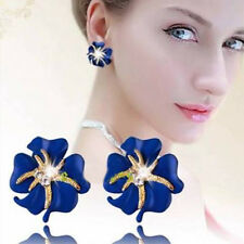 2015 Fashion Jewelry Crystal Flower Starfish Cocktail and Clip Earrings Ear Cuff