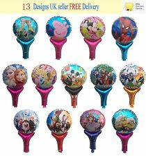 Reuseable Children Party Hand Balloons Frozen Peppa Pig Minions Spiderman Mickey