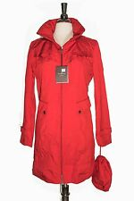 NWT COLE HAAN Travel Pack RAIN  COAT - TRENCH Red