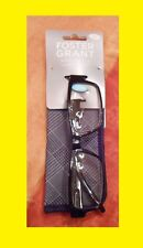Foster Grant Compact Wayfarer Reading Glasses Vince with Spring Hinges & Case