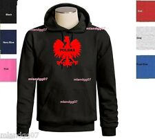 Polish Eagle Polska Flag Sweatshirt Hoodie Sizes S-3XL