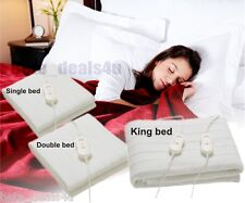 SINGLE, DOUBLE, KING SIZE ELECTRIC BLANKET FOR BED WASHABLE HEATED UNDERSHEET UK