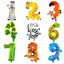 Animal Large 16 Inch Alphabet Number Birthday Party Supply Foil Balloon Decor