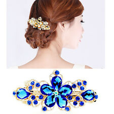 New Crystal Flower Rhinestone Hairpin Barrette Hairpin Attractive Hair Accessory