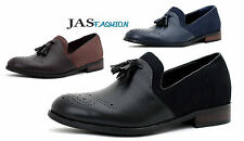 Mens Smart Slip On Dress Tassel JAS Designer Loafers Casual Brogue Shoes Size UK
