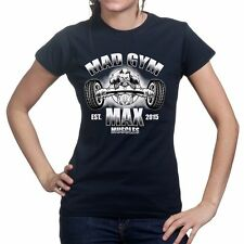 Gold Mad Gym Max Muscle Fitness Sports Training Running Womens Ladies T shirt