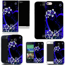 gel case cover for majority Mobile phones - blue alluring heart silicone