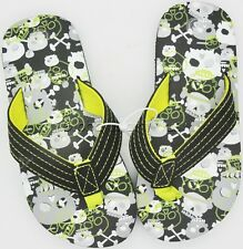 Flip Flops Thong Sandals Flats Children Boys Girls Skulls & Crossbones Themed