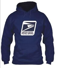 USPS POSTAL HOODIE HOODED SWEATSHIRT WITH LARGE POSTAL LOGO ON CHEST Sizes S-5X