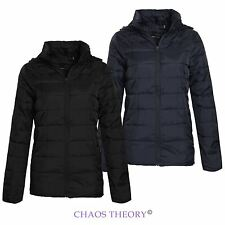 BRAVE SOUL PUFFER HOODED QUILTED PADDED WOMENS LADIES JACKET COAT SIZES 8-16