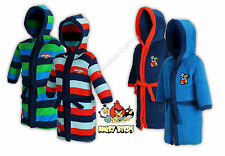 NEW Boys Official Angry Birds Cosy Fleece Hooded Bath Robe Dressing Gown 5,6,7yr