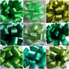 DOUBLE SATIN RIBBON SHADES OF GREEN 9 SHADES, 8 WIDTHS 5 LENGTHS BERISFORDS